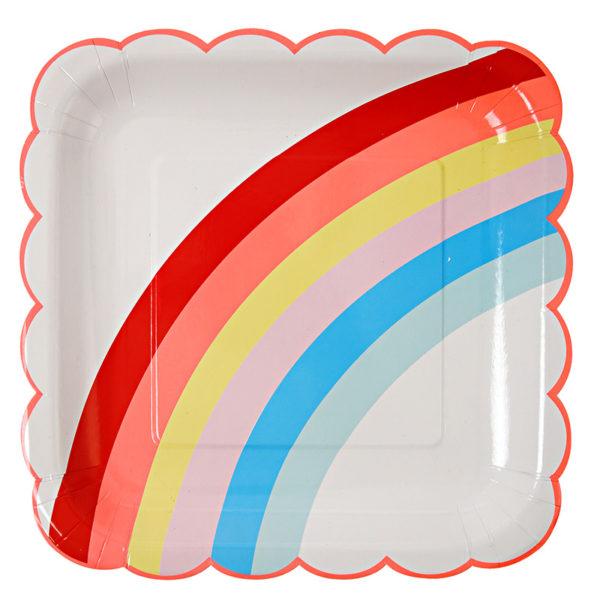 Platos grandes arco iris. Lmdi party